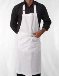 Avental branco com bolso personalizado - Oxford