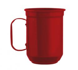 Caneca de Alumínio 600ml vermelha personalizada