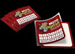 100 adesivos vinil retangulares 4,5X6,1cm com recorte personalizados