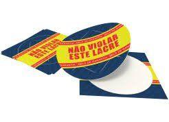 200 adesivos vinil redondos 6X6cm com recorte personalizados