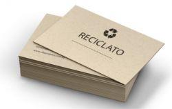 500 Cartões de visita Papel reciclado