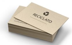 200 Cartões de visita Papel reciclado